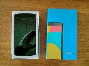 Google Nexus 5, Black, Like new in Box, Unlocked