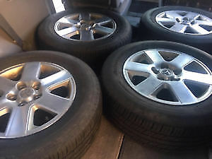 Set of 4 Michelin Defenders on Toyota Rims