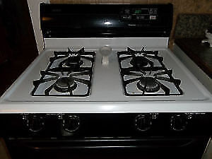 Beautiful black and white gas stove