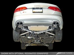 AWE Tuning Audi S4 3.0T Touring Edition Exhaust - Silver Tips