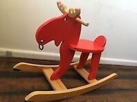 Ikea wooden rocking moose/reindeer 3 yrs +