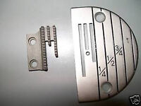 Brand new throat plate and feed for an industrial sewing machine