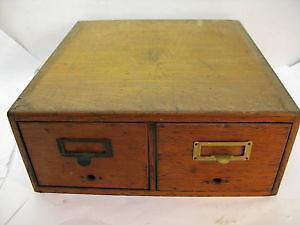 Vintage Oak File Cabinets
