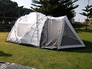 CAMPING EQUIPMENT---D.M.H. AUSTRALIA OVERLANDER DOME 8 MAN TENT-- & CAMPING EQUIPMENT----SPORTIVA ENSUITE DOME TENT GOOD CONDITION ...