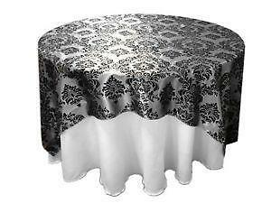 Bon Damask Table Overlays