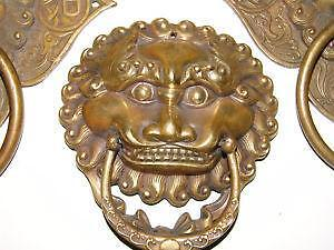 brass lion door knockers