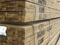 2x1 x 4.8m(16ft) New Pressure Treated Roofing Battens Trade Packs