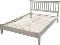 DOUBLE BED FRAME GREY