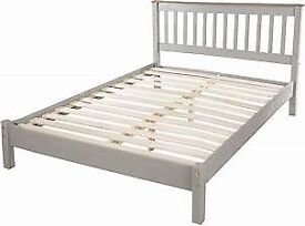 NEW DOUBLE BED FRAME GREY