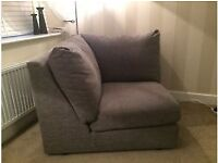 Contemporary Grey Corner Chair From Next. Excellent Condition. Was £450 RRP. Collection Only Please