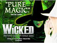 Wicked - TONIGHT - 22nd Oct x 2 - Under Half Price!!