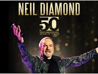 5TH ROW Neil Diamond Tickets Genting Arena Birmingham 15/10/17