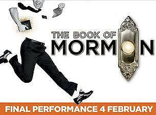 Three Book of Mormon Tickets 1 April 6.30pm Dress Circle