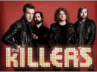 2 Tickets for The Killers O2 London Monday 28th November (Seated)