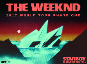 2 Tickets to the Weekend starboy tour in Vancouver