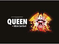 2 x standing queen and adam lambert birmingham tickets