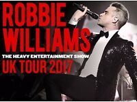 SEATED TICKETS TO SEE ROBBIE WILLIAMS @ ETIHAD STADIUM MANCHESTER ON 3 JUNE