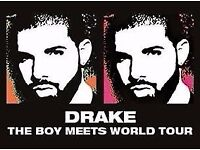 4x Drake standing tickets at The O2, Wednesday 1 February