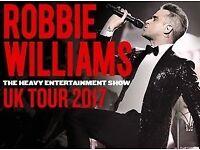ROBBIE WILLIAMS 2 TICKETS LONDON