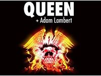2 x seated tickets for Queen and Adam Lambert at The Hydro Glasgow Tomorrow Sun 3rd Dec