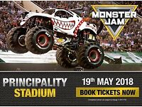 4 Tickets to MONSTER JAM Monster Truck Show in Cardiff Sat May 19th, Well priced!