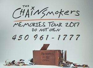 THE CHAINSMOKERS : SECTIONS ROUGE ET PARTERRE !!!