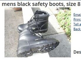 Capps AntiStatic mens black safety boots, size 8