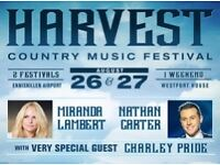 4 x Weekend Camping Tickets for Harvest Country Music Festival