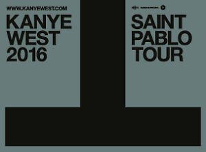 Kanye West: The Saint Pablo Tour 2 Tickets Sec 112
