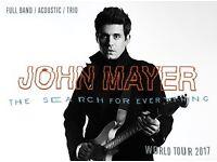 2 x John Mayer tickets - O2 Arena, London - 11th May 2017