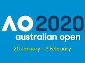 Aus Open - Rod Laver LOWER TIER - Monday Night 20th Jan 2020 x 2no