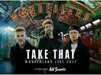 2 x Take That Wonderland gig tickets