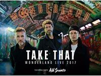 Take That Wonderland Tour Tickets - Standing - Carrow Road Friday 16 June