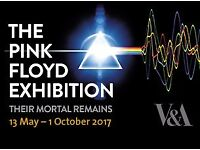 1x ticket to Pink Floyd 'Their Mortal Remains' Exhibition for Monday 2nd October