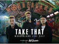 2 x Take That Tickets - O2 Arena Block 411 - Friday 9/6/17