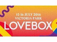 Lovebox Friday ticket - £55