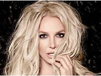 *Price Drop* 2x Britney Piece of Me Tour Tickets. Front of block ROW A!