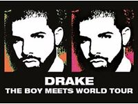 2 Seated Drake tickets, £150 for 2, Glasgow Hydro, 25th January