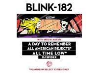 Blink 182 tickets x2 for o2 london 19th july