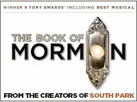 Book of Mormon tickets - 15th March 2017