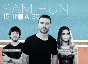 TWO Sam Hunt 15 in a 30 Tour TORONTO