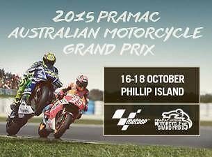 2015 Phillip Island MotoGp Pit Pass 3 Days 3 Grandstands ticket. Kiama Downs Kiama Area Preview