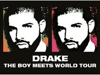 Drake with special guests at the London O2 - Saturday 4/02/17 x 2