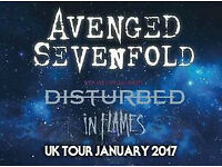 ***Standing*** Avenged Sevenfold Disturbed In Flames SSE Hydro Face Value