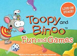 Toopy & Binoo! Fun & games. Second row from centre stage!