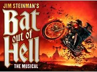 Bat Out of Hell - 4 * Stalls Tckets, 11th July London Coliseum