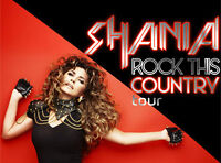 3 SHANIA TWAIN TICKETS THURS JUNE 25 ACC SHOW