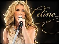 Celine Dion Show Tickets / Block 101 - Row N / Close to the Stage / O2 Arena London