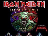 1 Iron Maiden Ticket - Aberdeen AECC - 4th Aug 2018