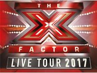 Face value 6th row tickets for X Factor Live show at Braehead Arena Wednesday 1st Mar 2017